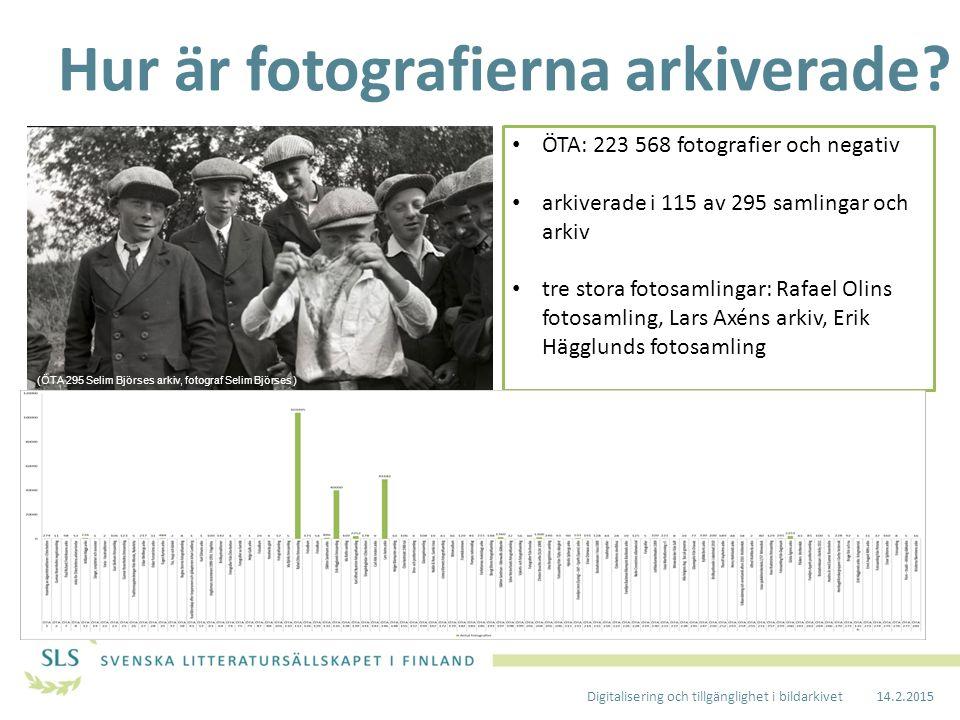 Vems fotografier finns i arkivet.