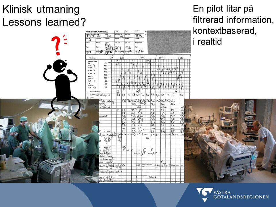 Klinisk utmaning Lessons learned? En pilot litar på filtrerad information, kontextbaserad, i realtid