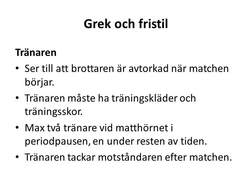 Grek och fristil Tränaren Ser till att brottaren är avtorkad när matchen börjar.