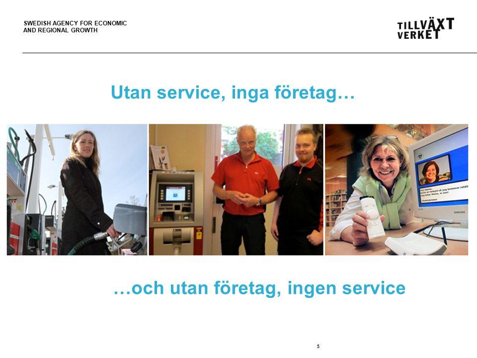 SWEDISH AGENCY FOR ECONOMIC AND REGIONAL GROWTH 6 Tillväxtverkets uppdrag Främja utvecklingen av tillgänglighet till kommersiell och offentlig service i gles- och landsbygder för kvinnor, män och företag.