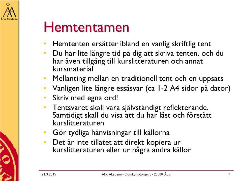 21.3.2015Åbo Akademi - Domkyrkotorget 3 - 20500 Åbo8 Viktigt vid sociologiska uppsatser Formulera en fråga eller ett problem.