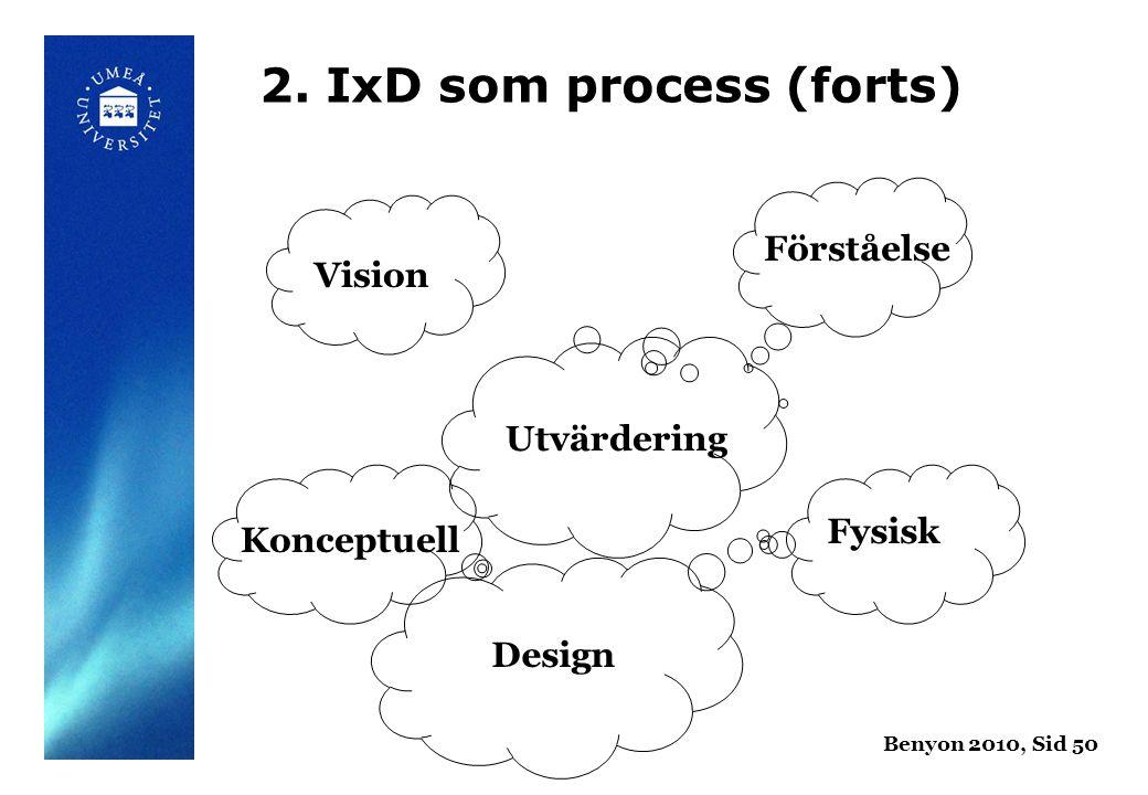 Utvärdering Förståelse Vision Design Konceptuell Fysisk Benyon 2010, Sid 50