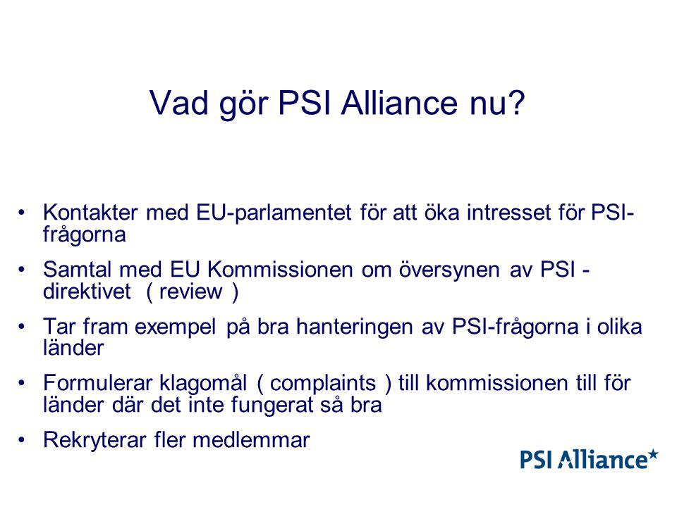 Vad gör PSI Alliance nu.