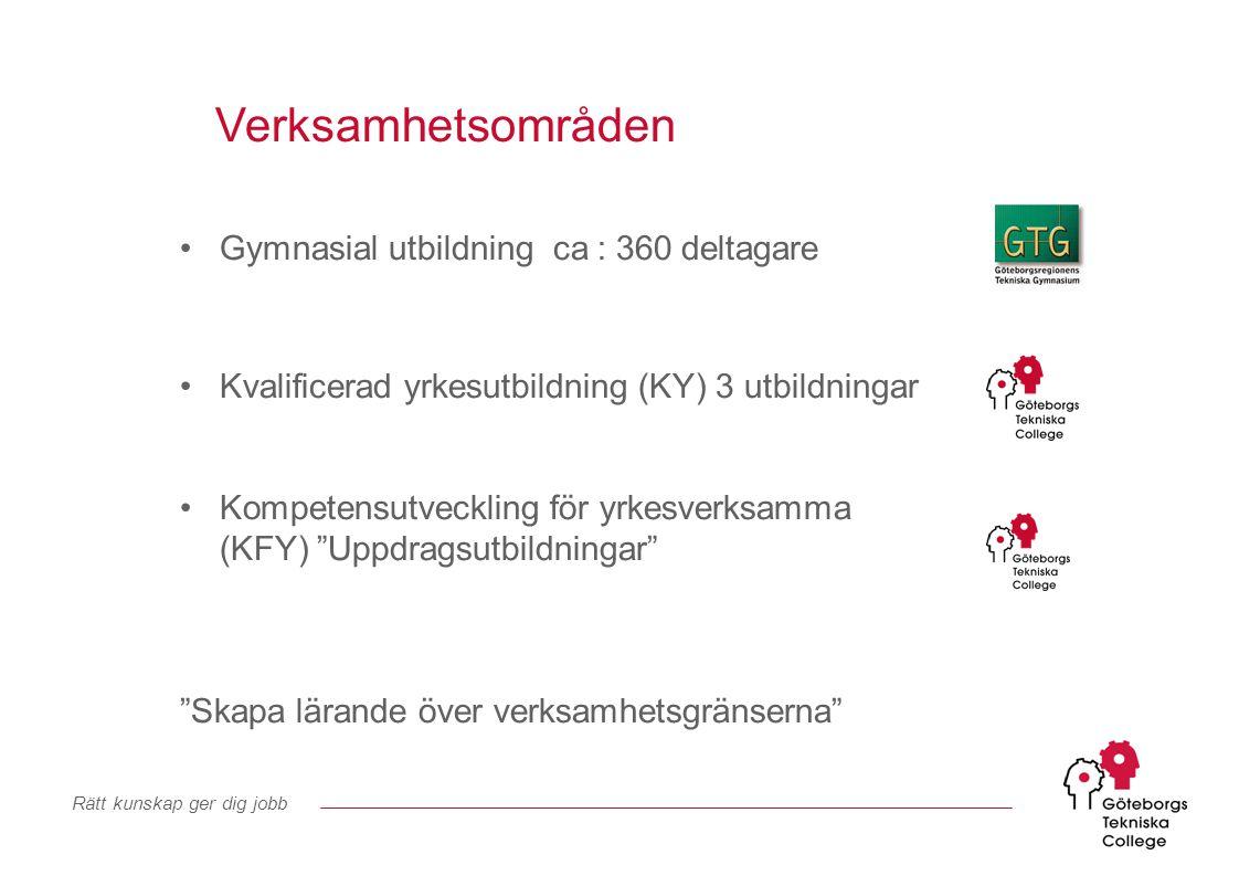 Rätt kunskap ger dig jobb Våra två lärcenter Volvo Torslanda TK-porten vid Personalvägen Lindholmen Kunskapscentrum Diagonalen 6