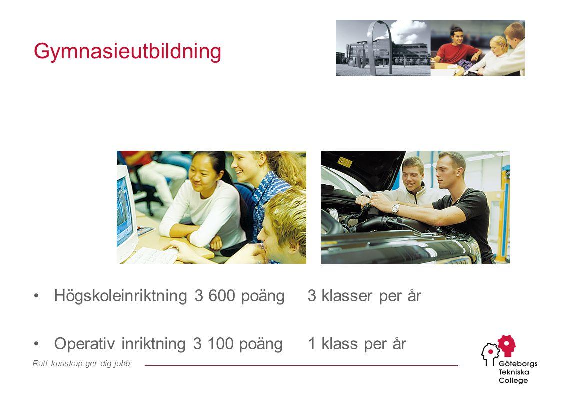 Rätt kunskap ger dig jobb Mer information hittar du på www.gtg.se www.gtc.com