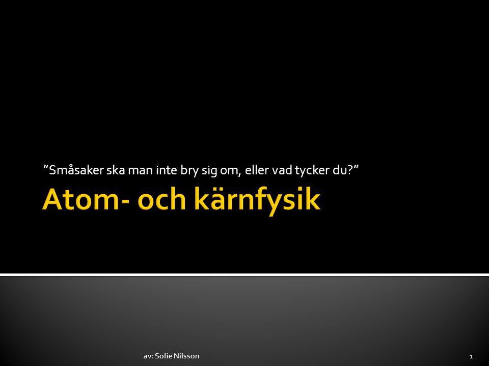 """""""Småsaker ska man inte bry sig om, eller vad tycker du?"""" av: Sofie Nilsson1"""