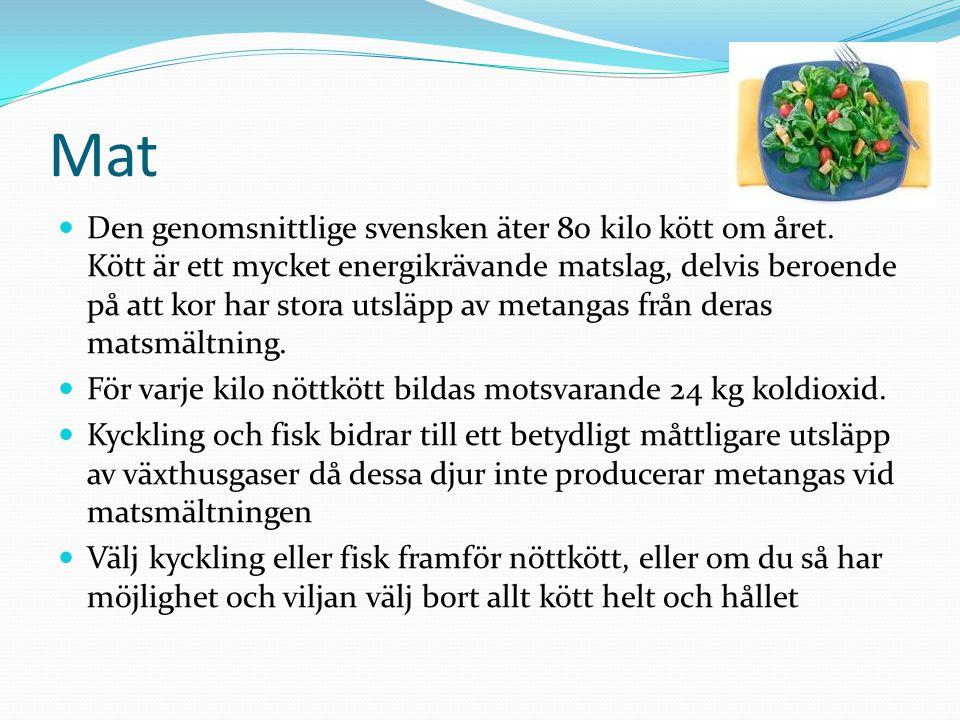 Mat Den genomsnittlige svensken äter 80 kilo kött om året.