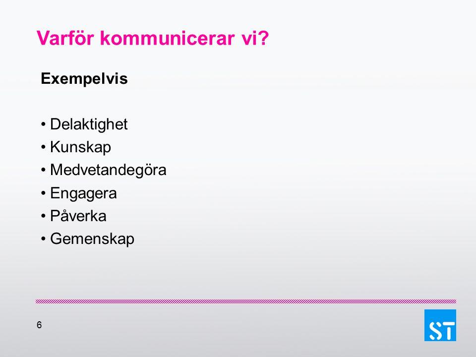 27 Exempel på målgrupper Medlemmar Nyanställda Oorganiserade Företrädare för arbetsgivaren Medlemmar i andra fack Journalister Tänk efter hur du kommunicerar med respektive målgrupp?
