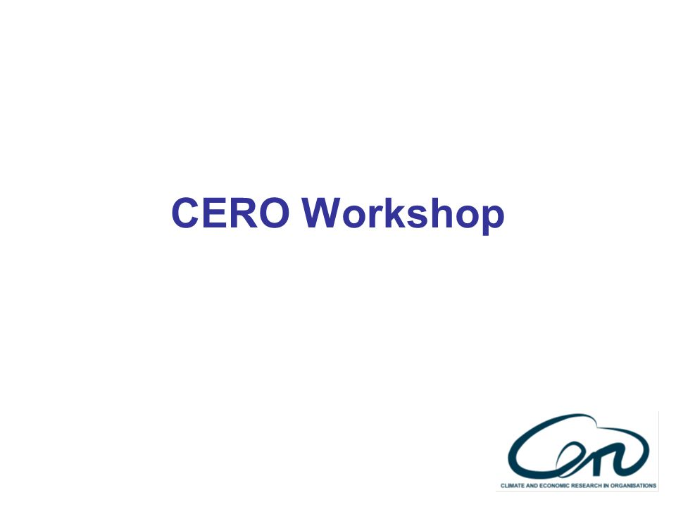 CERO Workshop