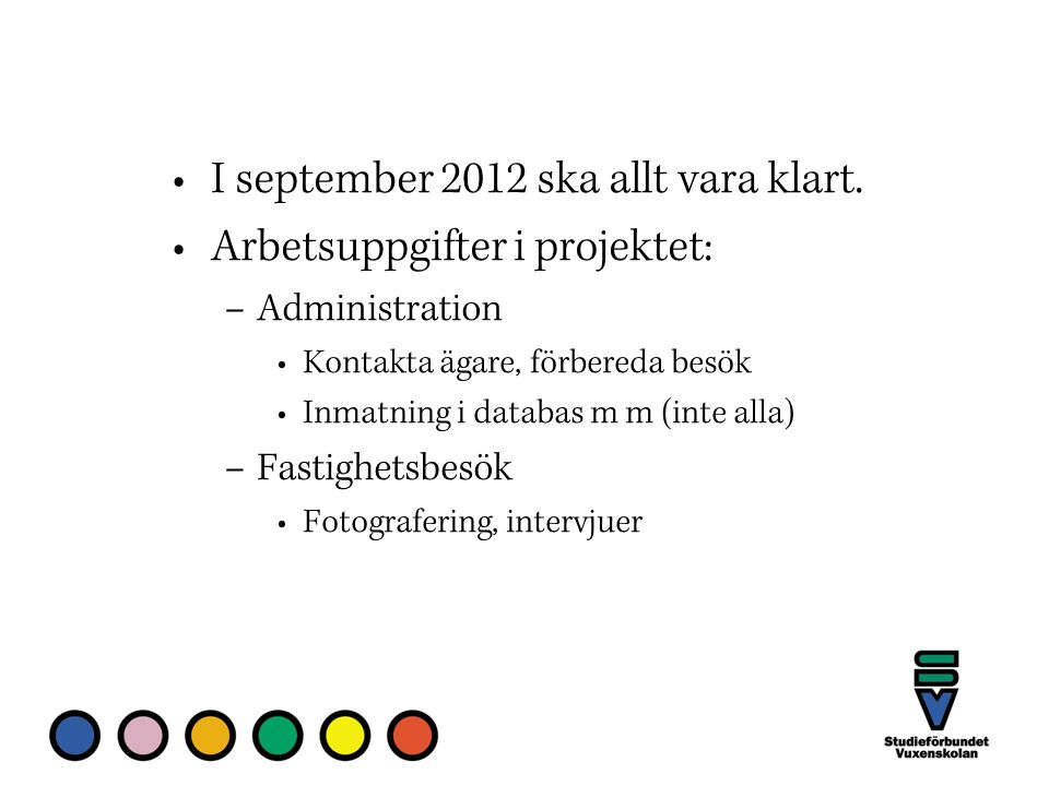 I september 2012 ska allt vara klart.