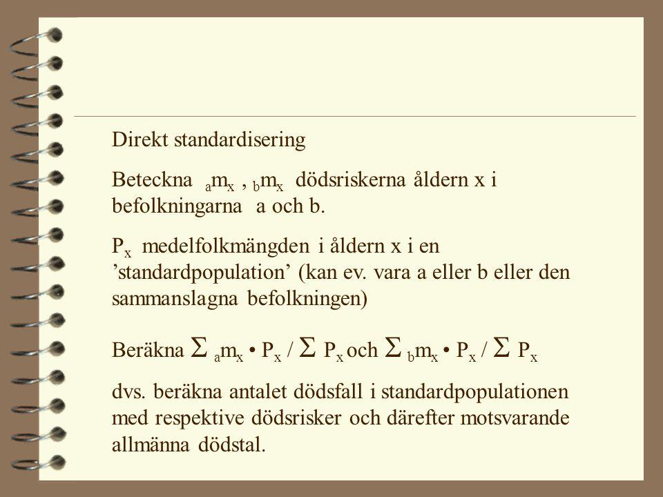 Indirekt standardisering.