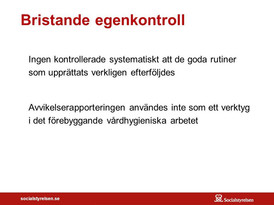 socialstyrelsen.se Fortsatta tillsynsaktiviteter RTS - granskning pågår under 2007 – 2008 vid vårdcentraler i Stockholm där frågor om vårdhygien ingår RTJ - har under 2007 granskat tillämpningen av basala hygienrutiner på 49 barnavårdscentraler och barnmorskemottagningar i sydöstra sjukvårdsregionen RTM - avser att använda hela tillsynsinstrumentet under hösten på barnkliniker.
