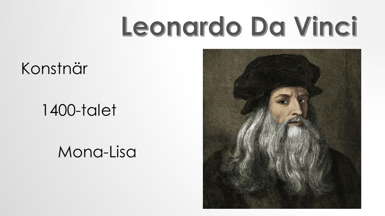 Konstnär 1400-talet Mona-Lisa