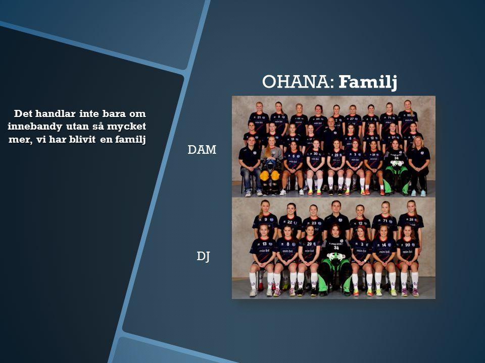 Det handlar inte bara om innebandy utan så mycket mer, vi har blivit en familj OHANA:Familj DAM DJ