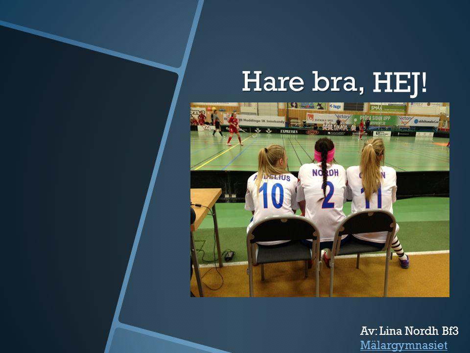Hare bra, HEJ! Av: Lina Nordh Bf3 Mälargymnasiet