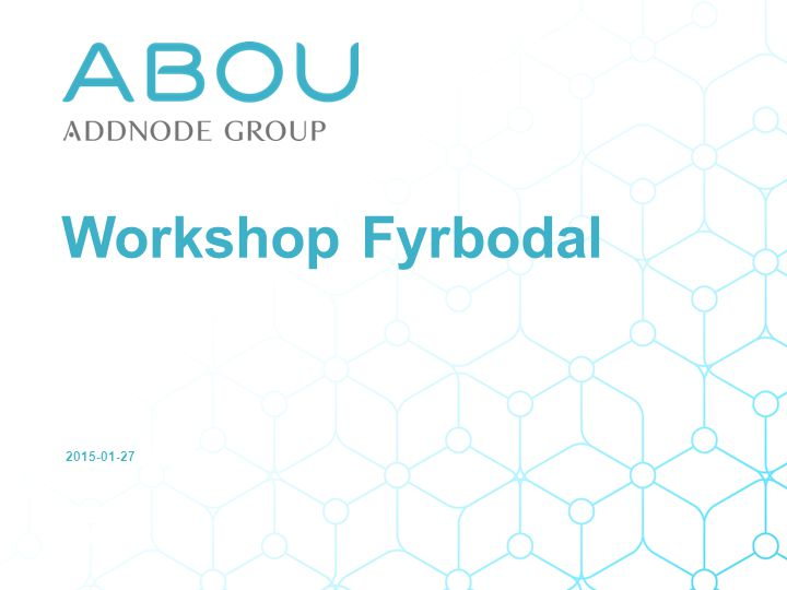 2015-01-27 Workshop Fyrbodal