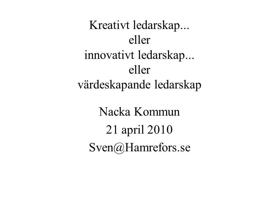 Kreativt ledarskap...eller innovativt ledarskap...
