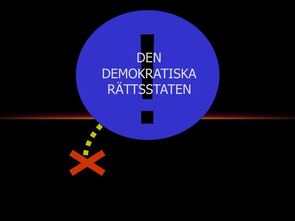 ! DEN DEMOKRATISKA RÄTTSSTATEN