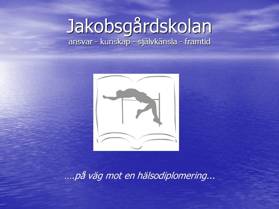 Jakobsgårdskolan ansvar - kunskap - självkänsla - framtid ….på väg mot en hälsodiplomering...