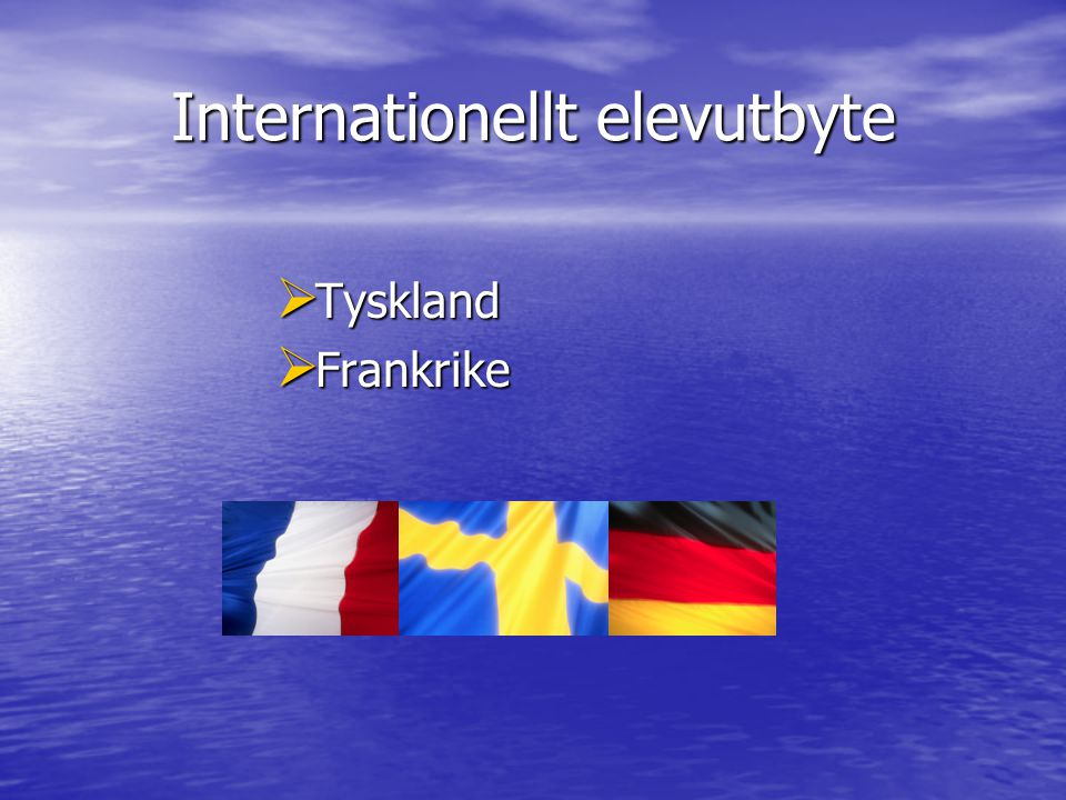 Internationellt elevutbyte  Tyskland  Frankrike