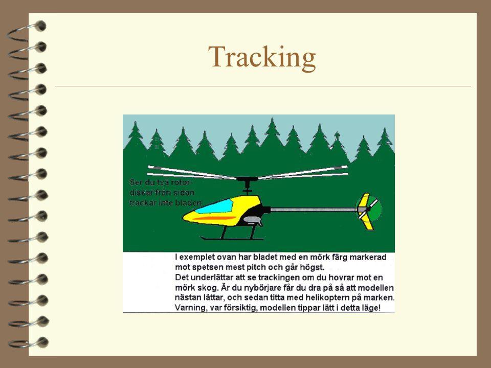 Trimning 4 När piloten ger en styrimpuls överförs den via swashplattan delvis till rotorbladen, delvis till paddelstången.