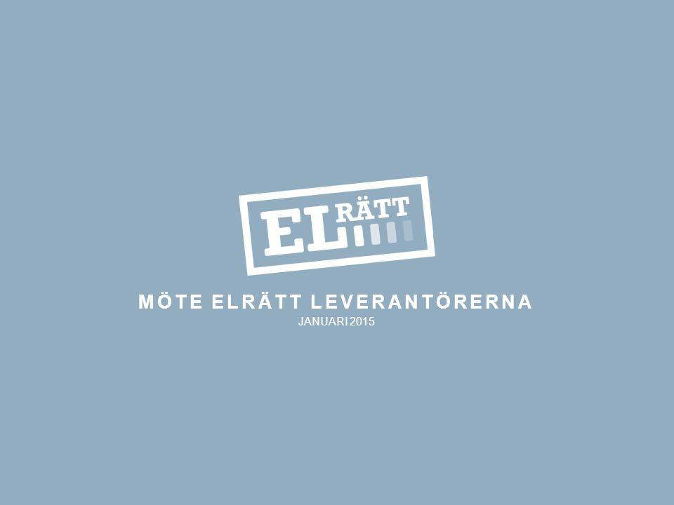 MÖTE ELRÄTT LEVERANTÖRERNA JANUARI 2015