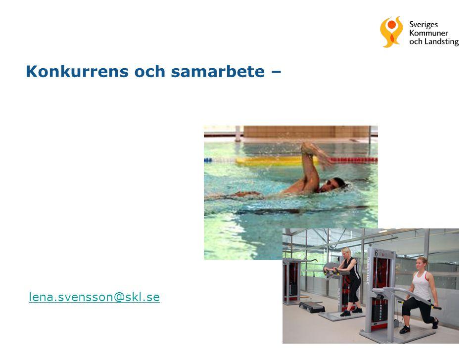 1 Konkurrens och samarbete – lena.svensson@skl.se