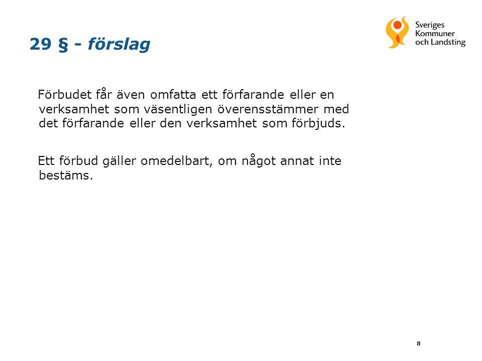 9 32 § - förslag Frågor om förbud eller prövning prövas av Stockholms tingsrätt på talan av Konkurrensverket.