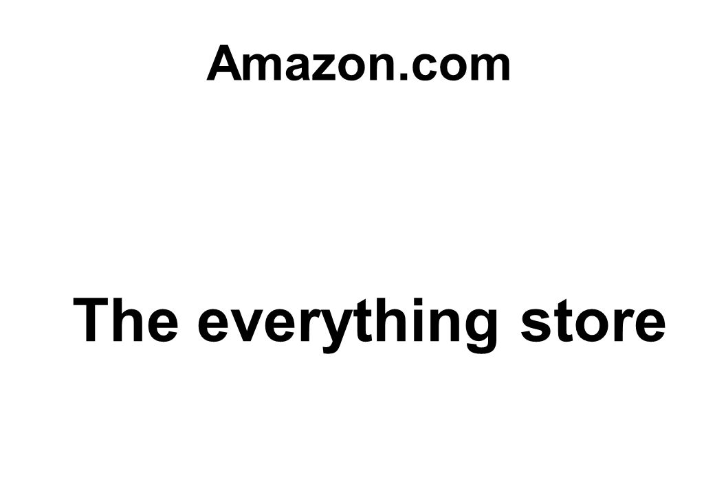 The everything store Amazon.com