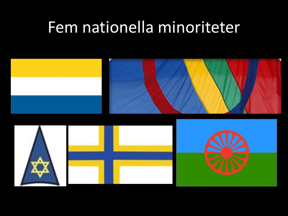 Fem nationella minoriteter