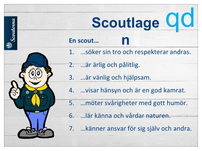 Scoutlage n En scout… 1.…söker sin tro och respekterar andras.