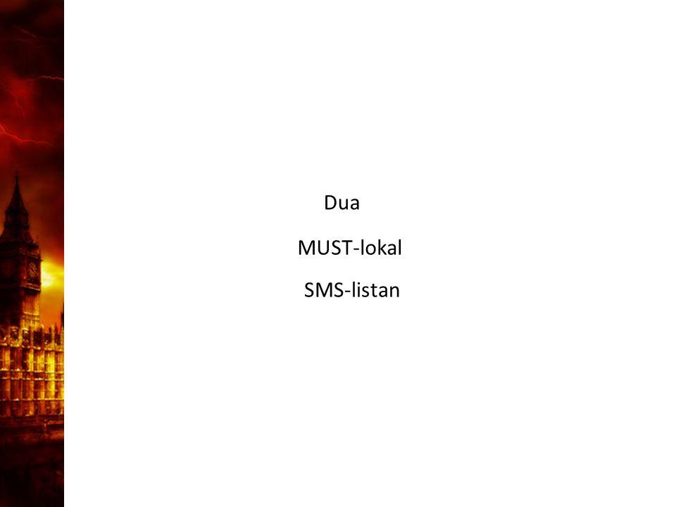 3. Delandet av månen Dua SMS-listan MUST-lokal