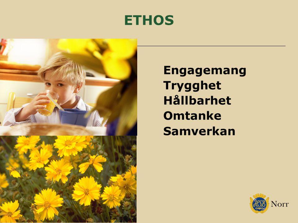 ETHOS Engagemang Trygghet Hållbarhet Omtanke Samverkan