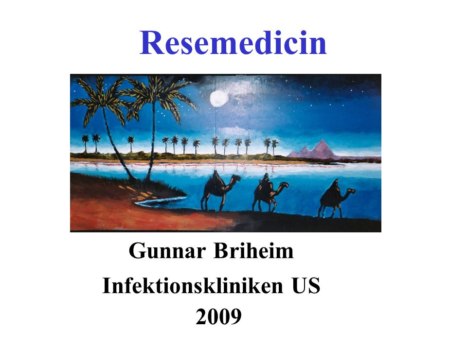 Resemedicin Gunnar Briheim Infektionskliniken US 2009