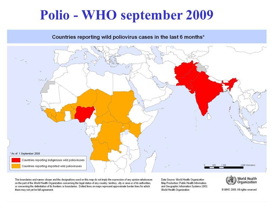 Polio - WHO september 2009