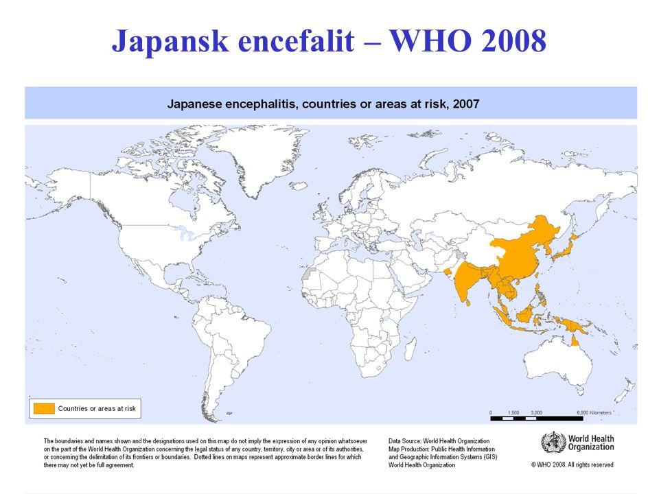 Japansk encefalit – WHO 2008
