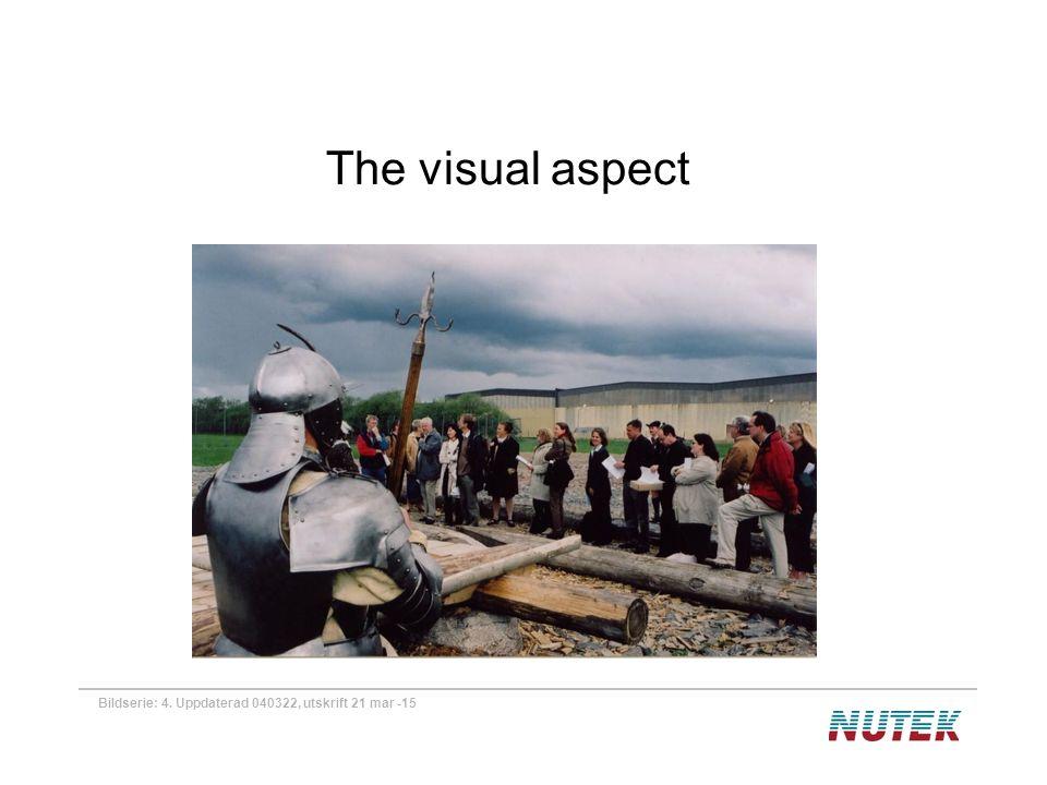 Bildserie: 4. Uppdaterad 040322, utskrift 21 mar -15 The visual aspect