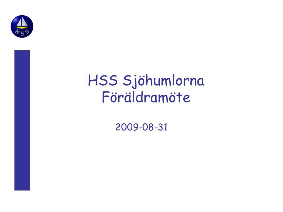 HSS Sjöhumlorna Föräldramöte 2009-08-31