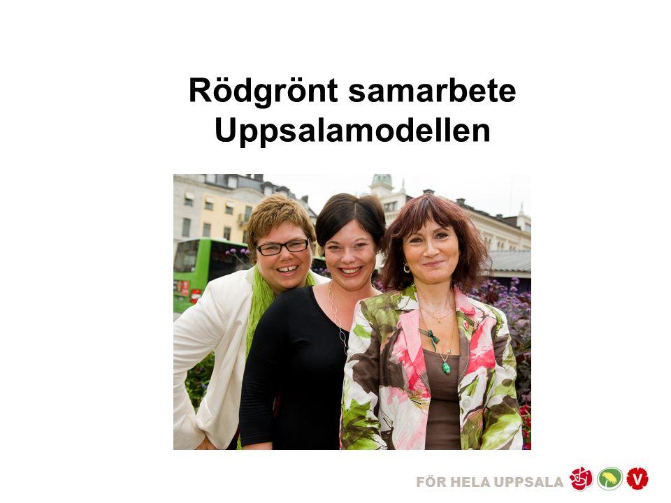 FÖR HELA UPPSALA Rödgrönt samarbete Uppsalamodellen