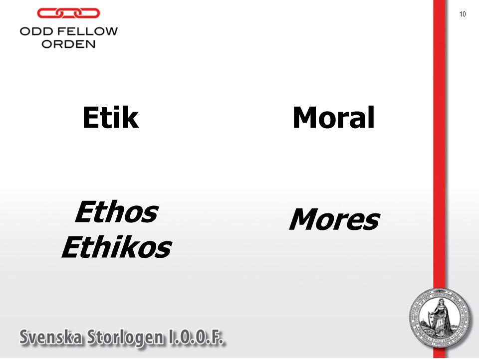 10 Etik Ethos Ethikos Moral Mores
