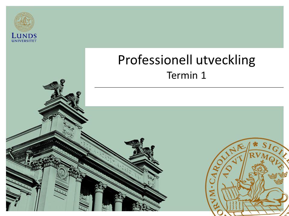 Professionell utveckling Termin 1
