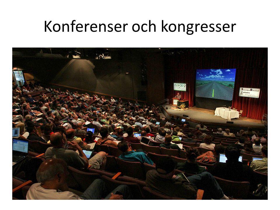 Konferenser och kongresser