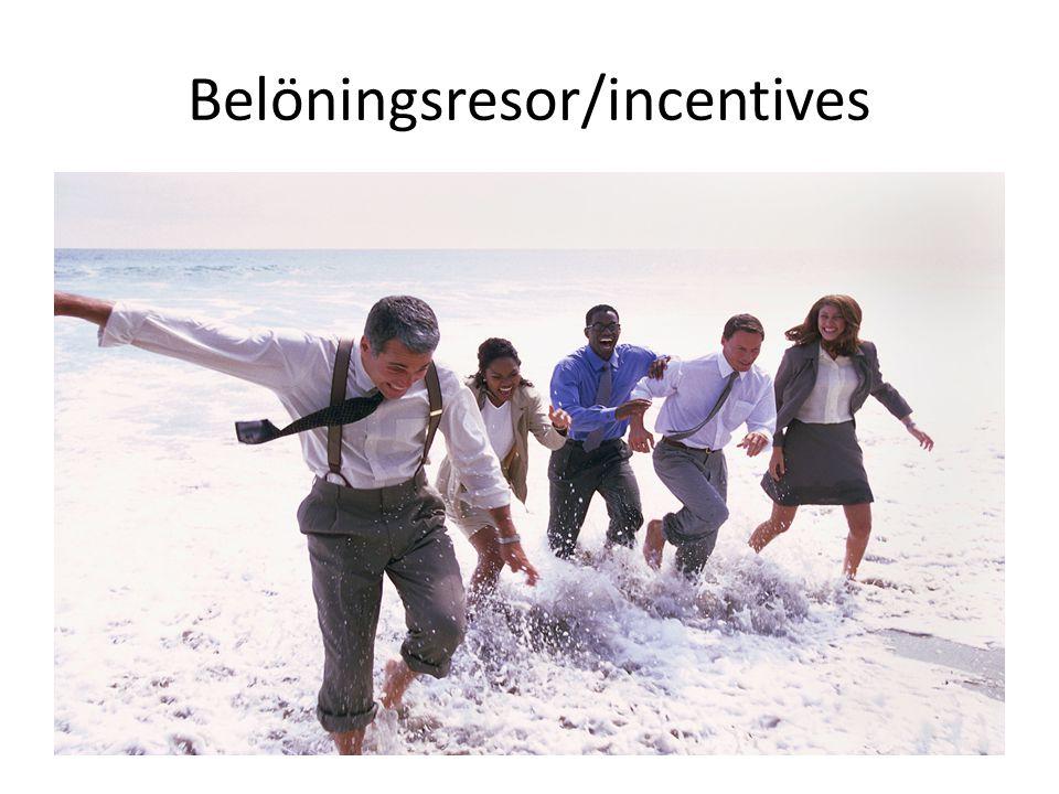 Belöningsresor/incentives