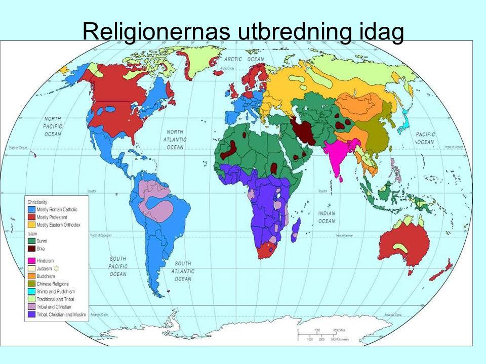 Religionernas utbredning idag