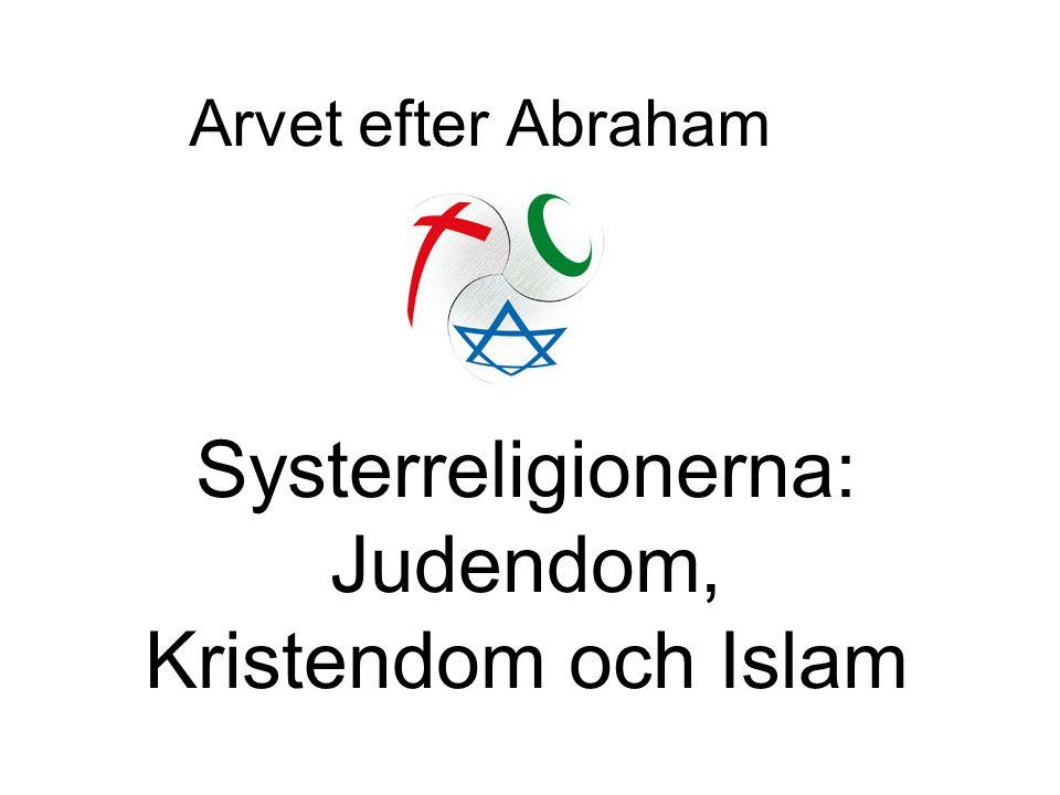 Arvet efter Abraham Systerreligionerna: Judendom, Kristendom och Islam
