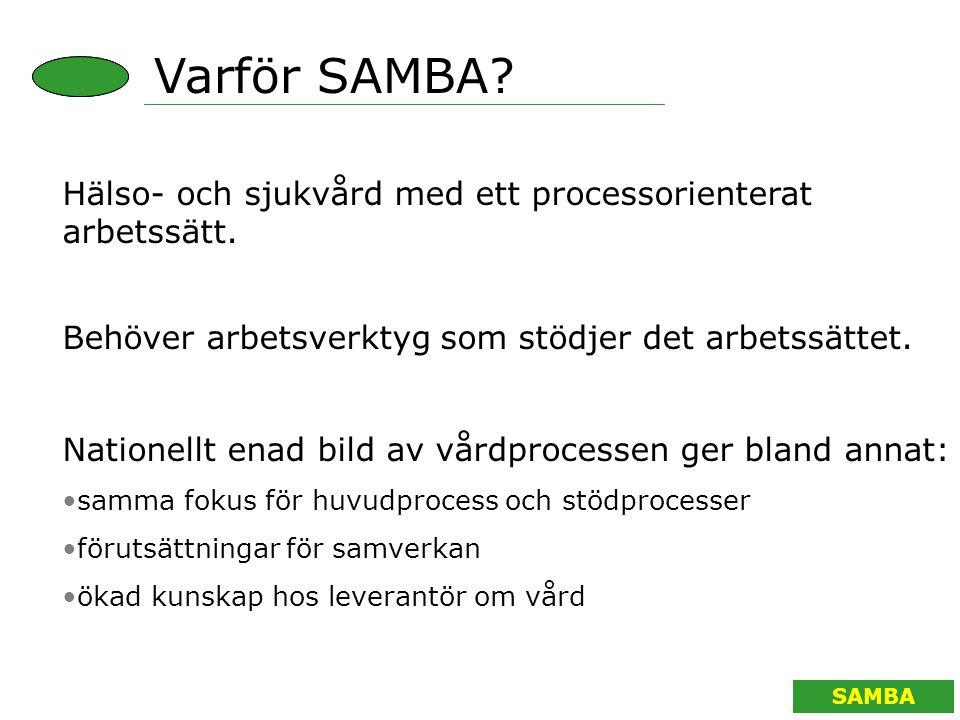 SAMBA Varför SAMBA. Hälso- och sjukvård med ett processorienterat arbetssätt.