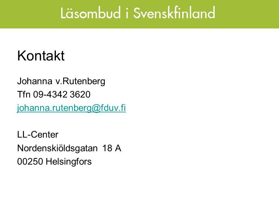 Kontakt Johanna v.Rutenberg Tfn 09-4342 3620 johanna.rutenberg@fduv.fi LL-Center Nordenskiöldsgatan 18 A 00250 Helsingfors