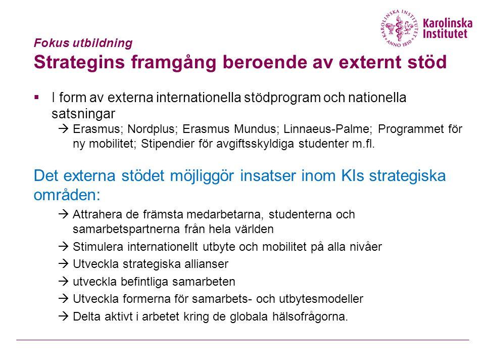 Hur fungerar nuvarande externa stöd. Erasmus Mundus:  Incitament.