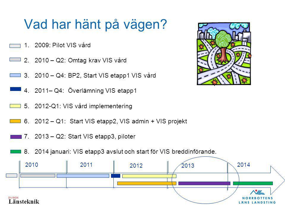 DIVISION Länsteknik Varför VIS etapp3.