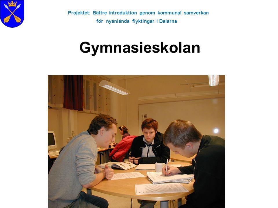 Projektet: Bättre introduktion genom kommunal samverkan för nyanlända flyktingar i Dalarna Gymnasieskolan